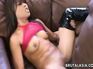 Asian complain Max Mikita brutalized with a giant cock