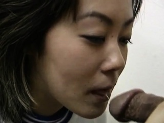 Rie Takasaka has hairy slit fucked alongside vibrator at medical