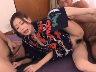 Lustful asian takes large sex toy