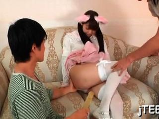 Beloved girl fingered and hot irrumation stimulation