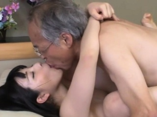 Jav Idol Ai Uehara Fucks Old Duffer On Get under one's Couch