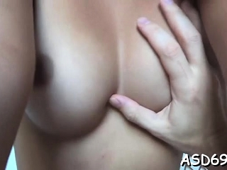 Sweetheart with a slender body and boobs fucks like a slut