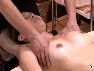 Japanese battle-axe sucking upstairs a hairy asian cock