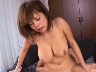 Engaging Airu Oshima with monumental tits getting nailed
