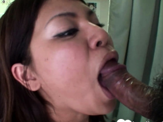 Busty sunless Asian gets shagged without mercy