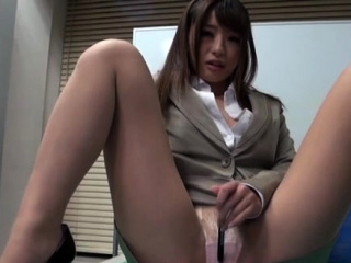 Japanese office floozy behaves like a doxy added to gets drilled