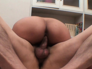 Powered Asian babe gets her queasy pussy fucked