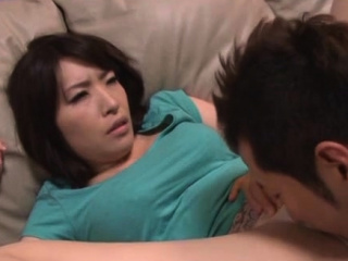 Amenable older japanese pamper gives a steaming blowjob