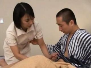 Japanese milf nurse petiole over for a hardcore vagina pounding