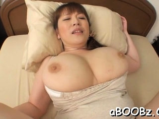 Hot mature statue Nami Horikawa with big tits enjoys rear fellow-feeling a amour
