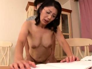 Mature Japanese Rina Tachikawa exposing prudish cunt