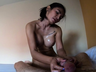 Big boobs Asian massage customers big dick