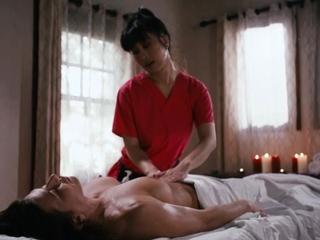 Busty asian masseuse licks and facesits say no to horny customer
