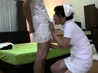 Young blonde gives blowjob with an increment of titjob relative to old guy