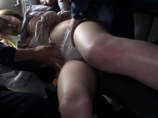 Hot Asian gives blowjob in prepare sex orgy