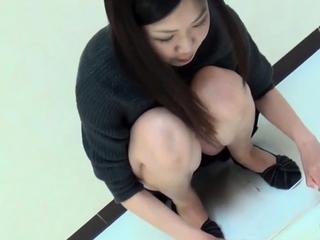 Asian teen urinating